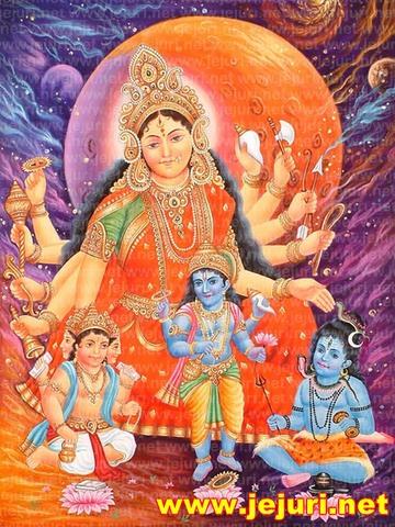 devi aditi with her child barhma vishnu mahesh (Copy) (Copy)