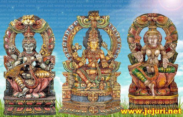saraswati parvati laxmi